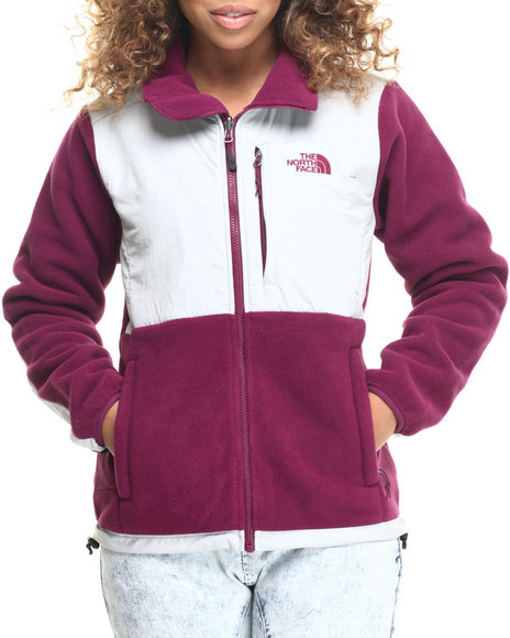 The North Face - Women Grey,Purple Denali Jacket