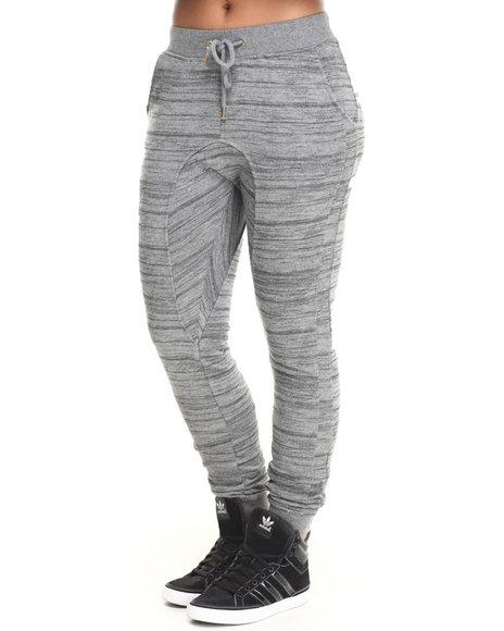 Soho Babe - Women Grey Semi-Drop Crotch French Terry Jogger Pant