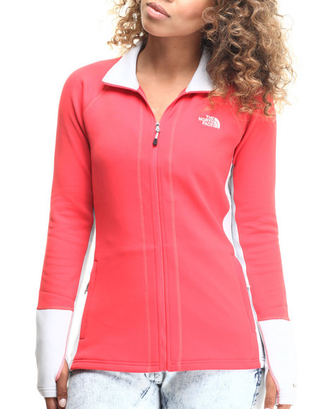 The North Face - Women Dark Pink Concavo Full Zip Jacket