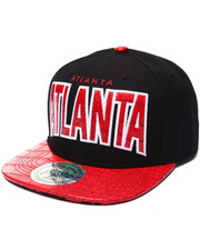 Hats - Atlanta Hometown Croc Embossed Visor Snapback Hat