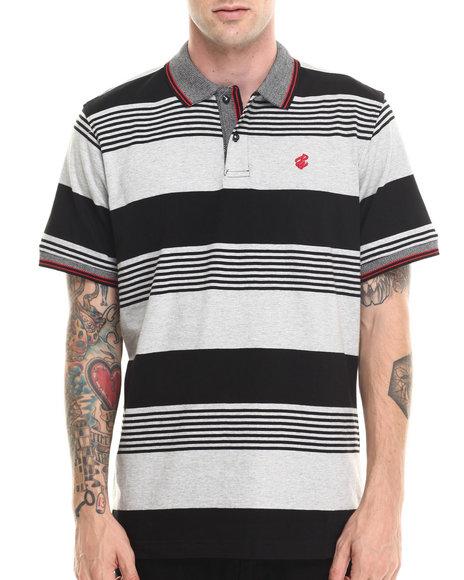 Rocawear - Men Black Marcy Stripe Polo
