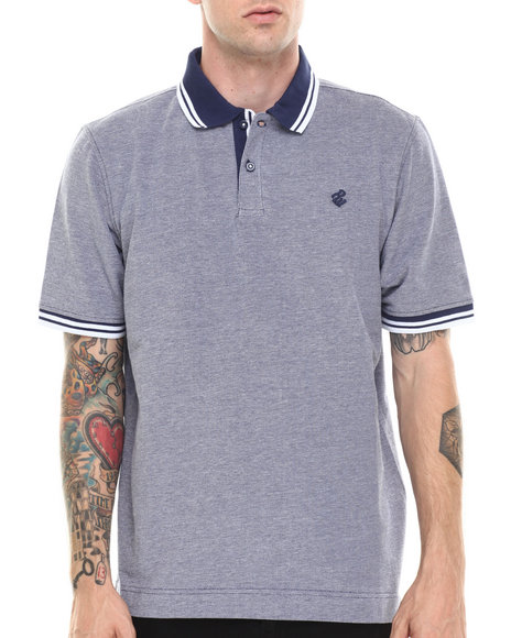 Rocawear - Men Blue Birdseye Polo