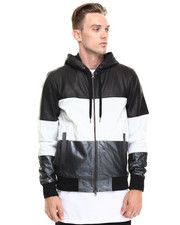 Zanerobe - Frankie Leather Zip-up Hoodie