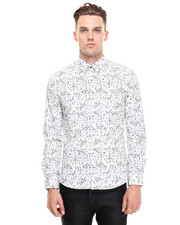 Shirts - Snow Print Buttondown Shirt