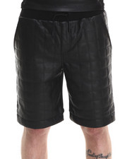 Shorts - Quilted Leatherette Short