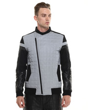 Jackets & Coats - Asymetric Reflective Moto