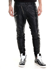 General Idea - Leatherette Moto Pant / Zip Detail