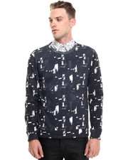 -FEATURES- - Brush Printed Sweatshirt