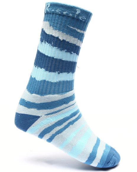 Buyers Picks Men Wild Stripe Print Socks Light Blue - $4.99