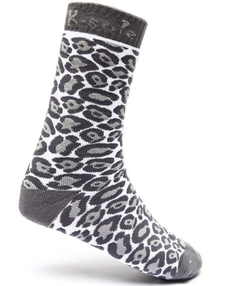 Buyers Picks Men Leopard Print Socks Grey - $3.99