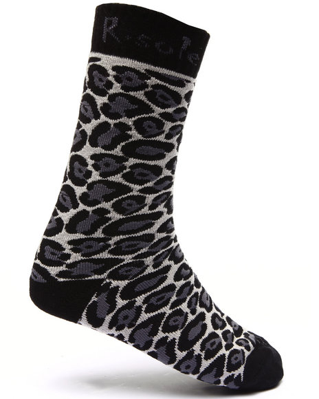 Buyers Picks Men Leopard Print Socks Black - $3.99