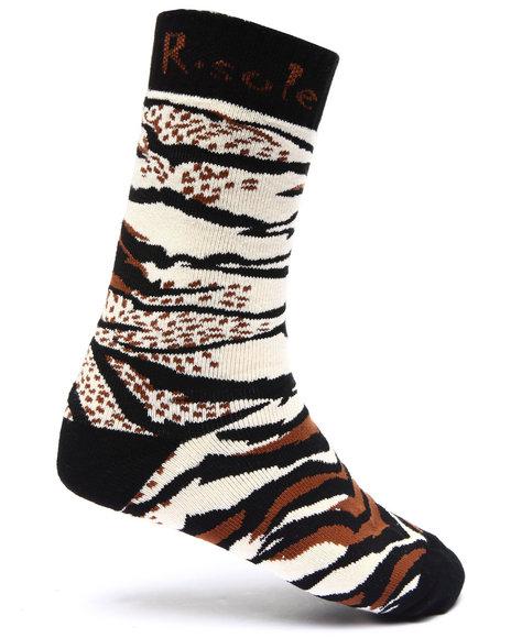 Buyers Picks Men Tiger Stripe Print Socks Animal Print - $3.99