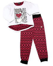 Girls - LOVE TOP & PRINTED JOGGER (4-6X)