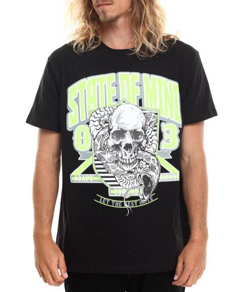 Graf-X Gallery - Men Black Snake / Skull S/S Tee - $7.99