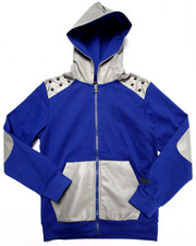 Boys - FULL ZIP HOODY W/ PU TRIM (8-20)