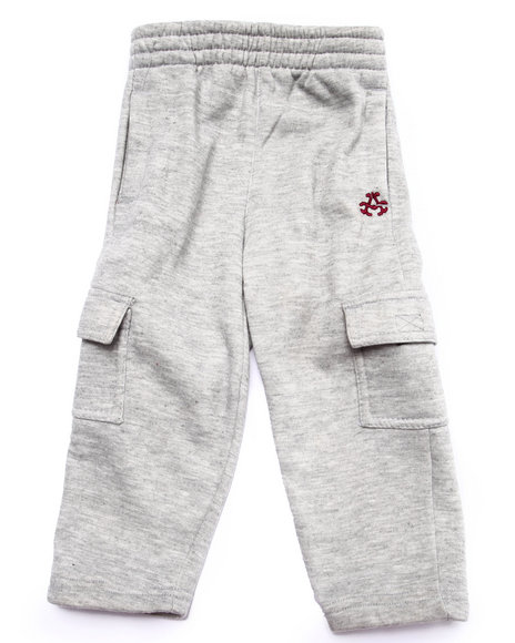 Akademiks - Boys Light Grey Fleece Pants (2T-4T)
