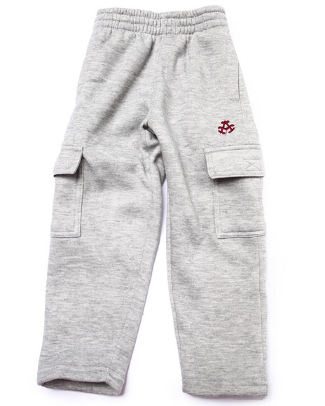 Akademiks - Boys Light Grey Fleece Pants (4-7)