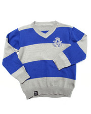 Tops - Y/D STRIPE SWEATER (2T-4T)