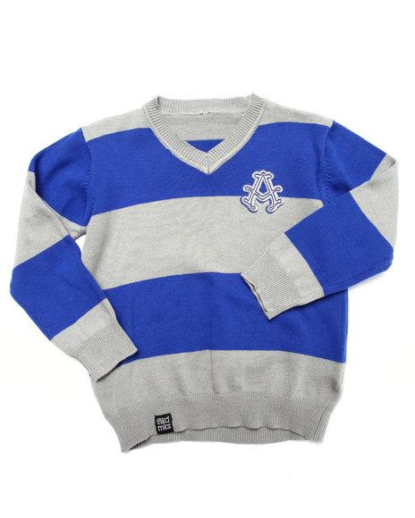 Akademiks - Boys Blue Y/D Stripe Sweater (2T-4T)