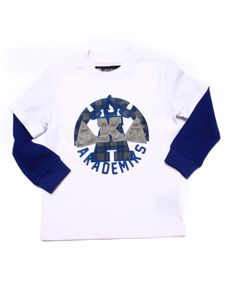 Akademiks - Boys White L/S Tartan Plaid Slider (2T-4T) - $17.99