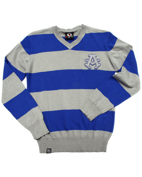 Akademiks - Boys Blue Y/D Stripe Sweater (8-20)