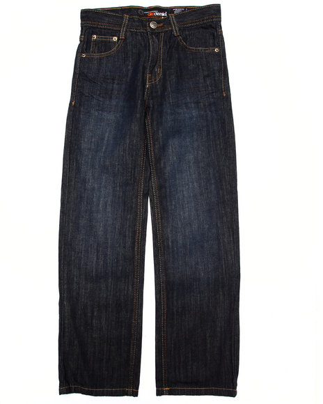 Akademiks - Boys Dark Wash Flap Pocket Jeans  (8-20)