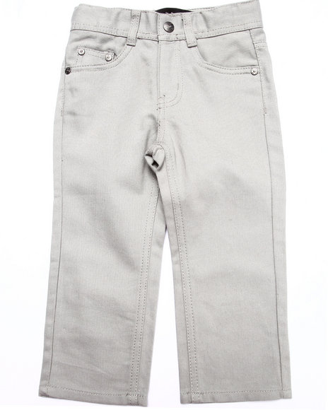 Akademiks - Boys Grey Signature Fan Back Jeans (2T-4T)