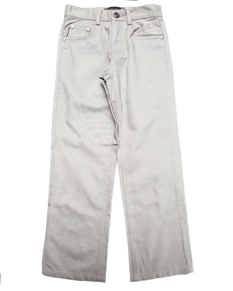 Akademiks - Boys Grey Signature Fan Back Jeans (8-20)