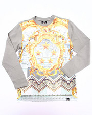 Akademiks - L/S BAROQUE SUBLIMATION TEE (8-20)