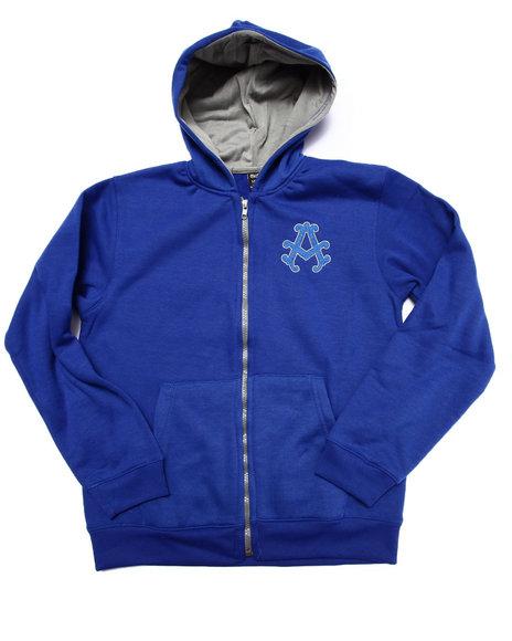 Akademiks - Boys Blue Fleece Full Zip Hoody (8-20)