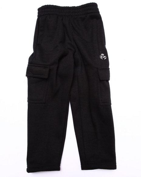 Akademiks - Boys Black Fleece Pants (4-7)