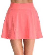 Women - Flounced Skirt w/ Exposed Back Zipper