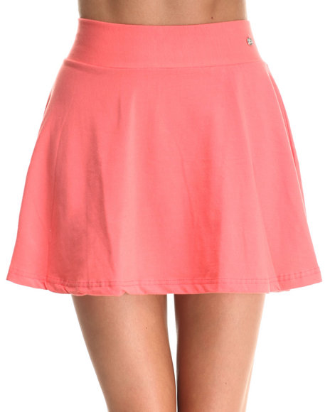 Apple Bottoms - Women Coral Flounced Skirt W/ Exposed Back Zipper - $8.99