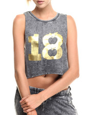 Apple Bottoms - Acid Wash Americana Cropped Top