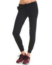 Apple Bottoms - Drawstring Jogger Pants w/ Elastic Waist