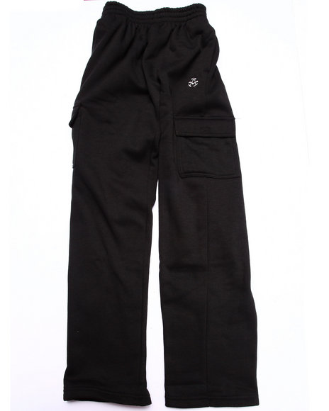 Akademiks - Boys Black Fleece Pants (8-20)