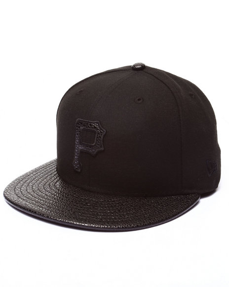New Era - Men Black Pittsburgh Pirates Ss Stinger 5950 Fitted Hat