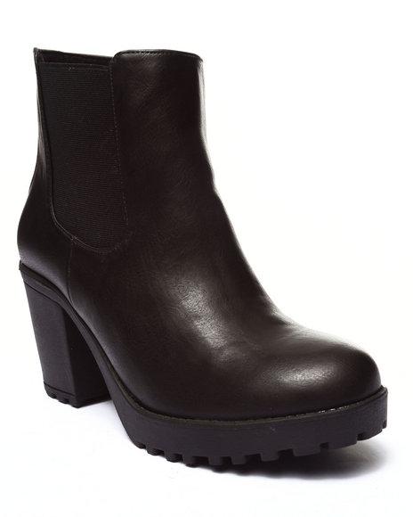 Fashion Lab - Women Black Santiago Small Platform Ankle Bootie