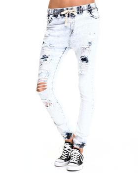 Fashion Lab - Denim Long - Pant Cargo Jogger