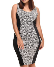 Fashion Lab - Vee Chevron Knit Dress