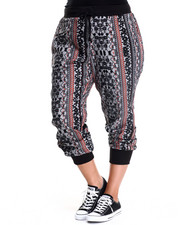 Apple Bottoms - Allover Aztec Jogger Pant