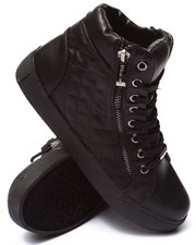 Sneakers - Perry Quilted Side Zip High Top Sneaker