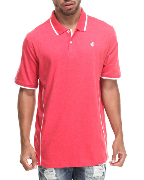 Rocawear - Men Red Heathered Polo