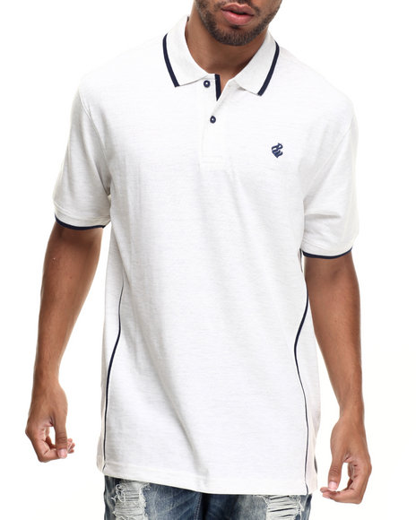 Rocawear - Men White Heathered Polo