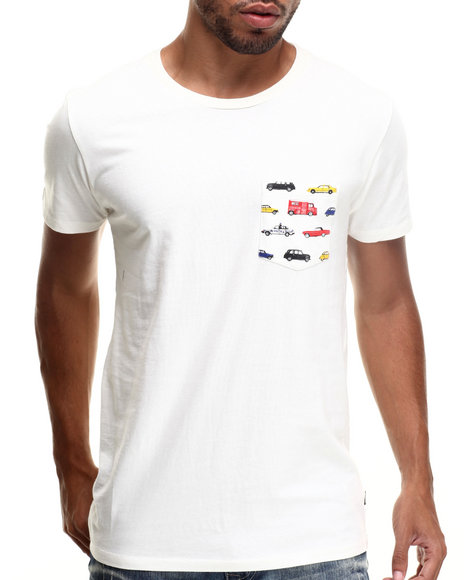 Ur-ID 185369 WESC - Men Cream Autobahn Pocket S/S Tee