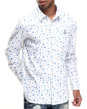 Men - Floral Blue L/S Button-down
