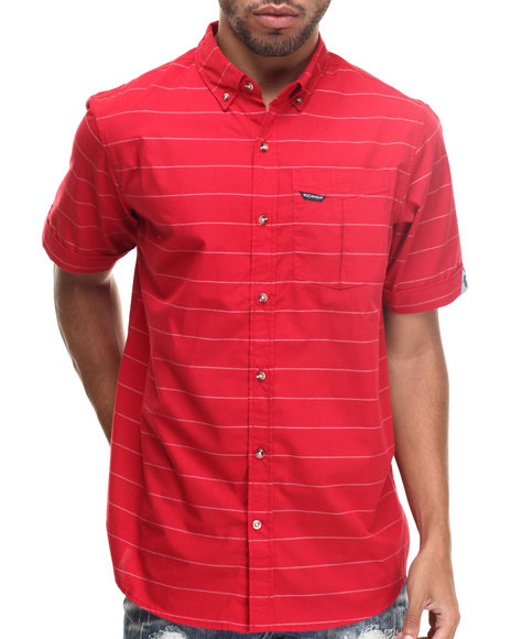 Rocawear - Men Red Striped S/S Button-Down