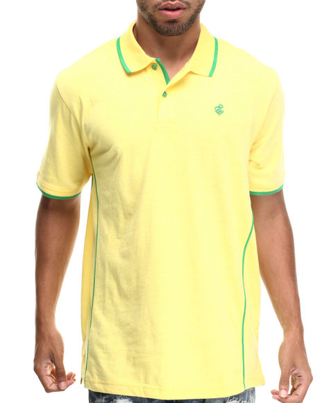 Rocawear - Men Yellow Heathered Polo