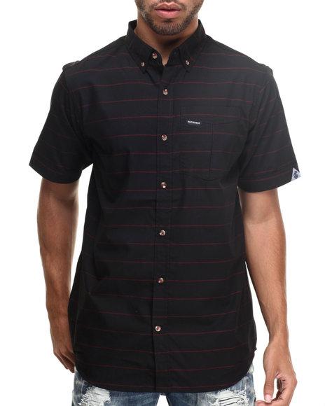 Rocawear - Men Black Striped S/S Button-Down