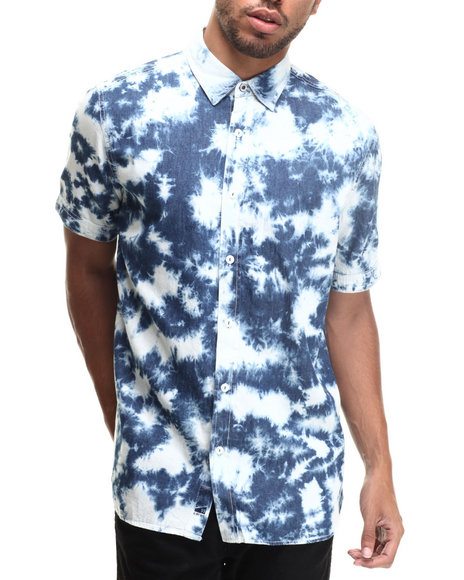 Rocawear - Men Blue Cloudy S/S Button-Down